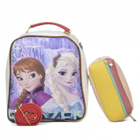 Duo Mochila Melly Frozen con cosmetiquera multicolor